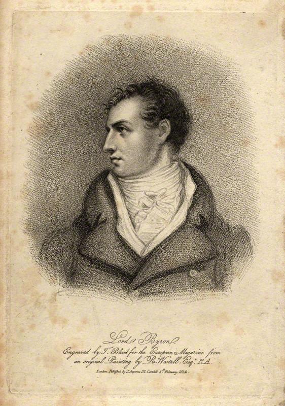 NPG D1159; George Gordon Byron, 6th Baron Byron by T. Blood, published by  James Asperne, after  Richard Westall